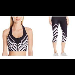 New Trina Turk  Mid-length leggings and sports bra